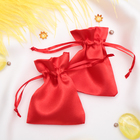 Мешочек подарочный атласный, 7*9 см, цвет красный
