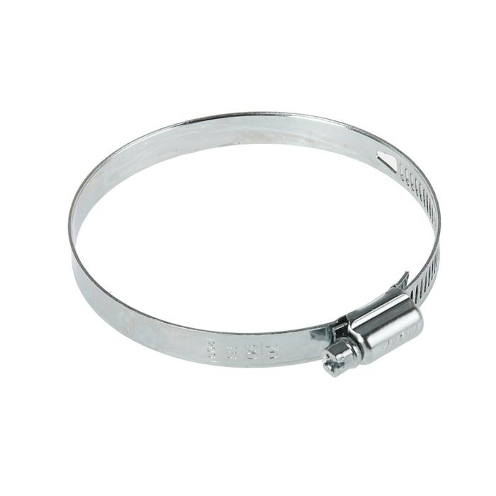 Хомут червячный NOVA, сквозная просечка, диаметр 70-90 мм, ширина 10 мм, оцинкованный
