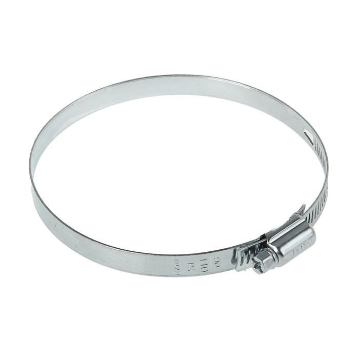 Хомут червячный NOVA, сквозная просечка, диаметр 90-110 мм, ширина 10 мм, оцинкованный