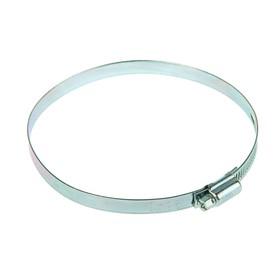 Хомут червячный NOVA, сквозная просечка, диаметр 110-130 мм, ширина 10 мм, оцинкованный Ош