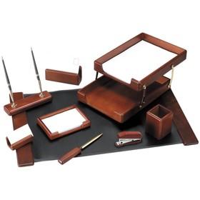 Набор настольный Delucci, 9 предметов, цвет тёмно-коричневый орех