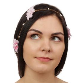 Декор для волос, вплетаемый «Розовый рай»