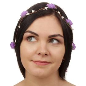Декор для волос, вплетаемый «Фиолетовые розы»