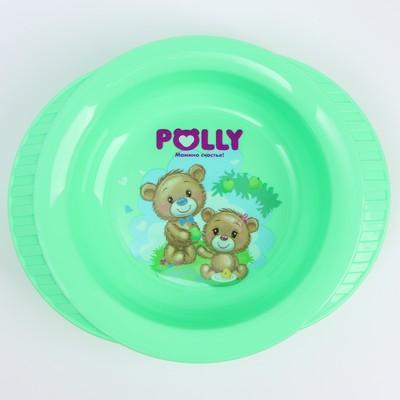 Тарелка детская глубокая на присоске Polly, рисунок МИКС, 350 мл, 19,5х16х5х5 - Фото 1