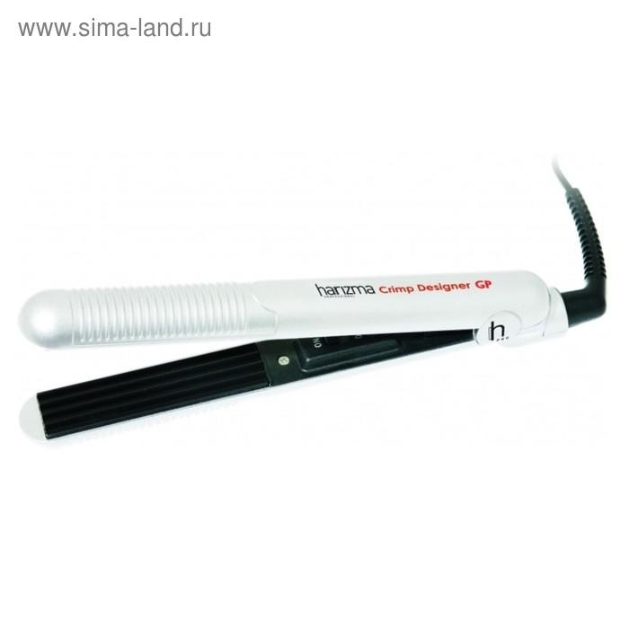 Щипцы-гофре Harizma h10312GP Designer, 32 Вт, гальваническое покрытие, белый