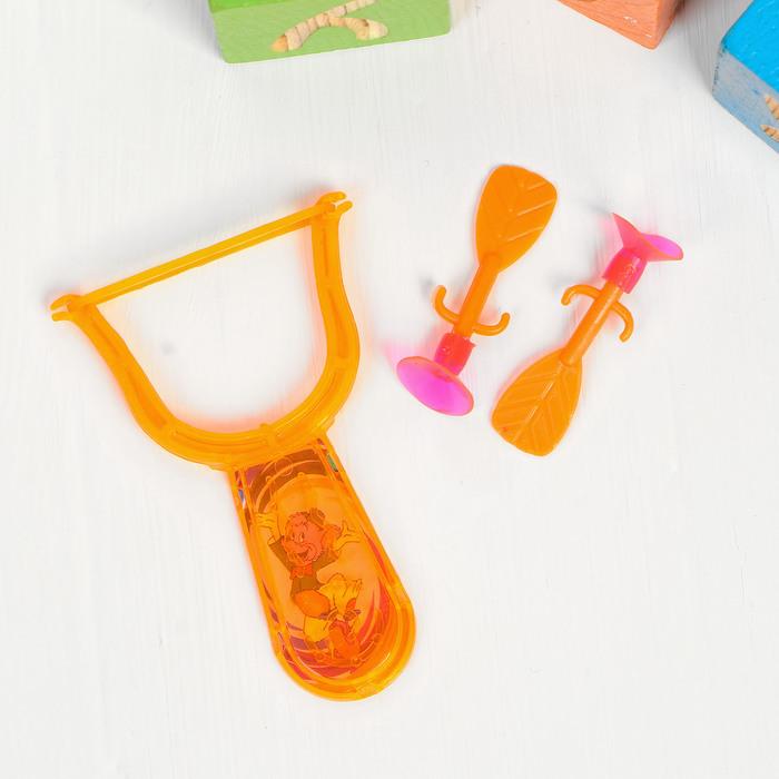 Рогатка Головоломка, 2 присоски, цвета МИКС
