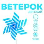 Ветерок «Полосатик», цвет синий