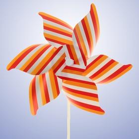 Ветерок «Полосатик», цвет оранжевый Ош