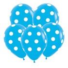 """Шар латексный 12"""" «Большие кружки», пастель, набор 12 шт., цвет голубой"""