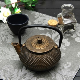 Чайник с ситом 300 мл 'Восточная ночь. Золото', цвет черный Ош
