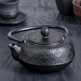 Чайник «Гафу», 500 мл, с ситом, цвет чёрный Ош