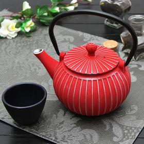 Чайник с ситом 500 мл 'Тео', цвет красный Ош