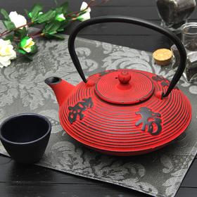 Чайник с ситом 800 мл 'Китайская мудрость', цвет красный Ош