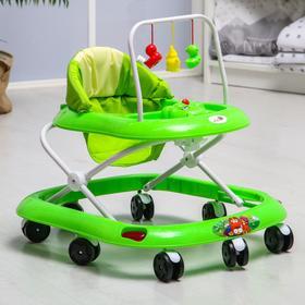 Ходунки «Маленький водитель», 8 колес, муз., зеленый Ош