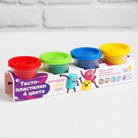Набор для детского творчества «Тесто-пластилин, 4 цвета»