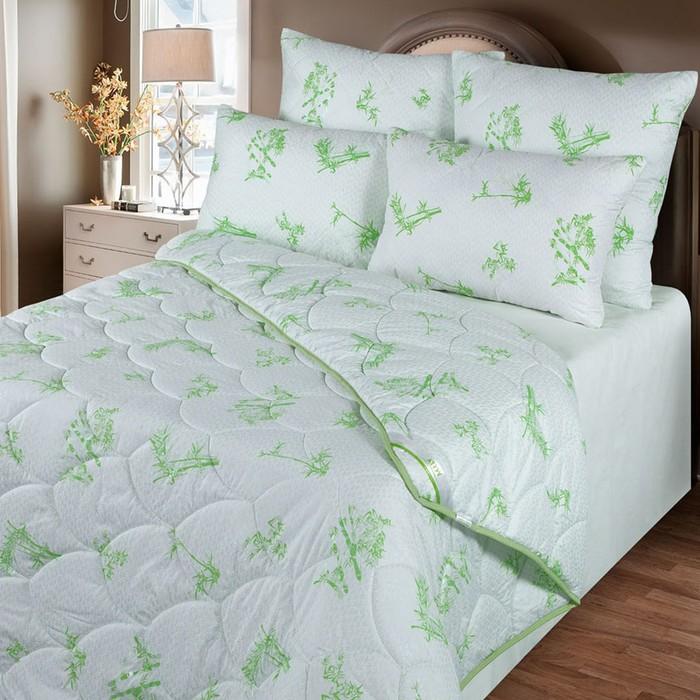 Одеяло обл. 140*205, ОБ/015эк, бамбуковое волокно, ткань глосс-сатин,п/э
