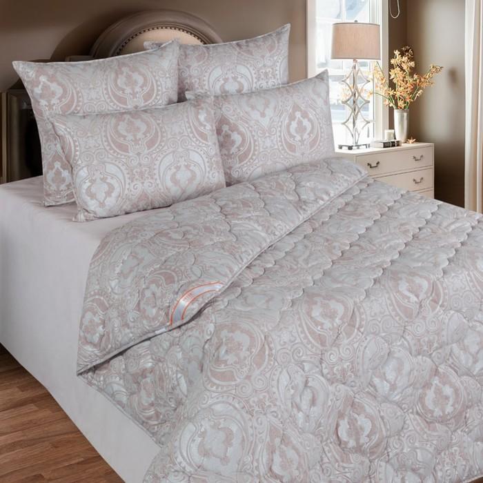 Одеяло 220х205 см, шерсть овечья, ткань тик, п/э 100%