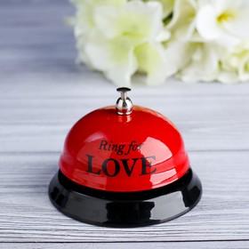 Звонок настольный 'Ring for a love', 7.5х7.5х6.5 см Ош