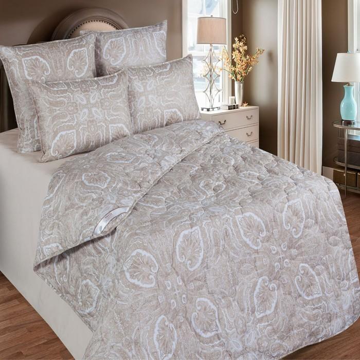 Одеяло 220х205 см, шерсть верблюда, ткань тик, п/э 100%