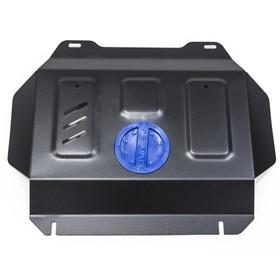 Защита радиатора и картера Rival (часть 2) для Toyota Hilux VIII (V - 2.4d; 2.8d) 4WD 2015-н.в., сталь 2 мм, без крепежа, 1.9502.1 Ош
