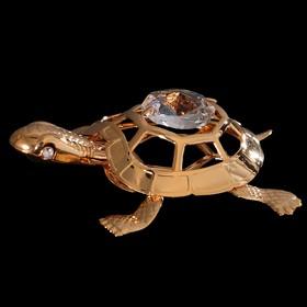 Сувенир «Черепаха», 5,5×4,3×1,5 см, с кристаллом Сваровски Ош