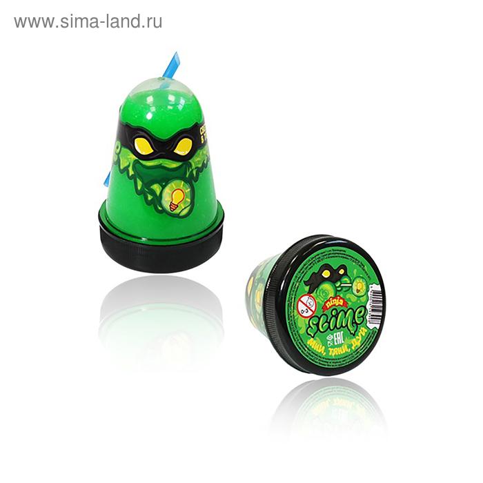 Лизун Slime Ninja, светится в темноте, зелёный, 130 г