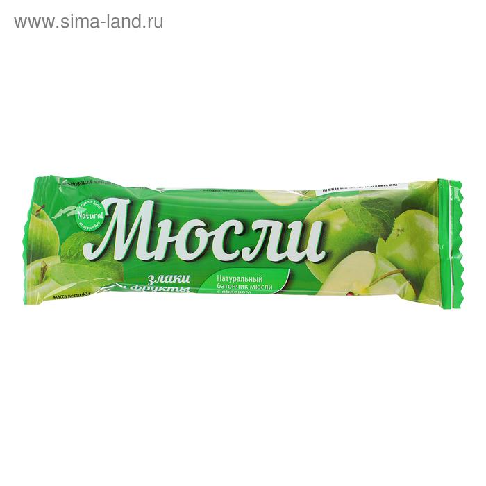 Злаковый батончик Effort muesli, яблоко, 40 г
