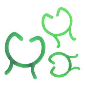Скрепка садовая, 3 размера, зелёный