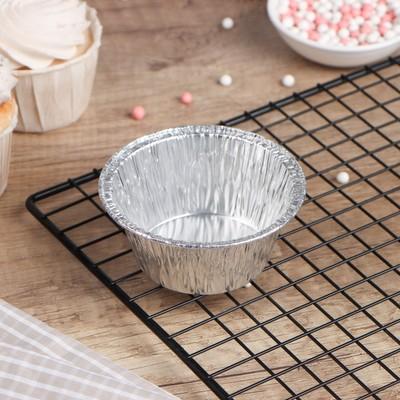 Алюминиевая форма для маффинов, 135 мл, 8,5×8,5×4 см, 150 шт/уп - Фото 1