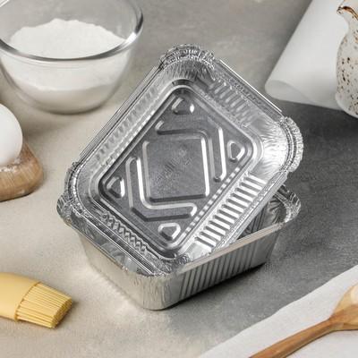 Контейнер алюминиевый, 430 мл, 14,4×11,9×4 см - Фото 1