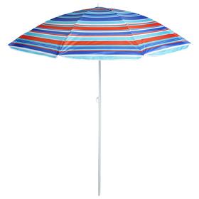 Зонт пляжный «Модерн» с серебряным покрытием, d=180 cм, h=195 см, МИКС Ош