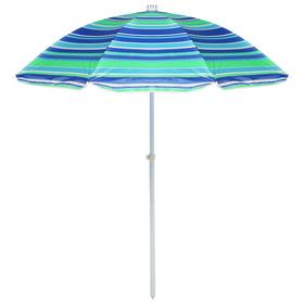Зонт пляжный «Модерн» с серебряным покрытием, d=240 cм, h=220 см, МИКС Ош