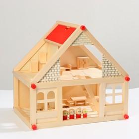 Дом с мебелью и 4 человечками, 39 элементов Ош