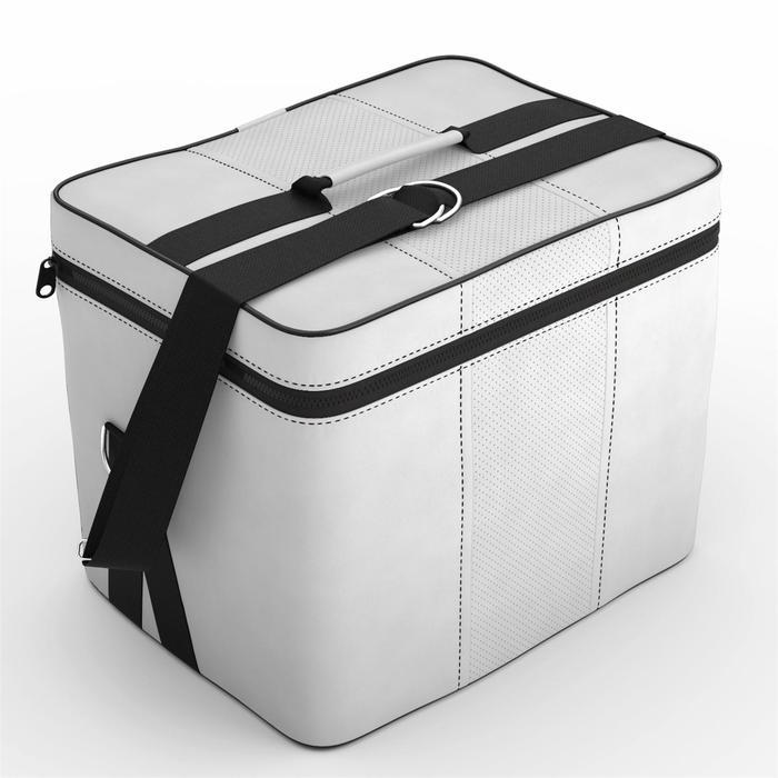 Автомобильная сумка, экокожа, светло-серая