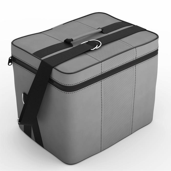Автомобильная сумка, экокожа, бежево-шоколадная