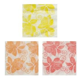 Салфетки бумажные «Роза», 24*24 см, 50 шт.