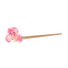 Гавайская палочка для волос «Цветы», цвет бело-розовый