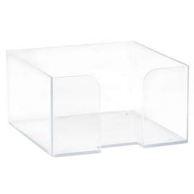 Подставка для бумажного блока 90 х 90 х 50, пластик прозрачный Ош