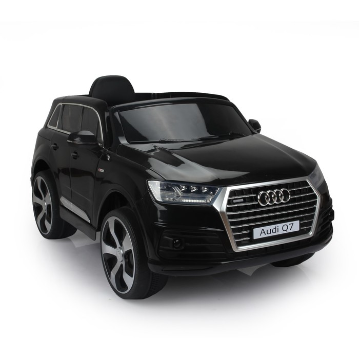 Электромобиль AUDI Q7, EVA колёса, кожаное сидение, цвет чёрный глянец