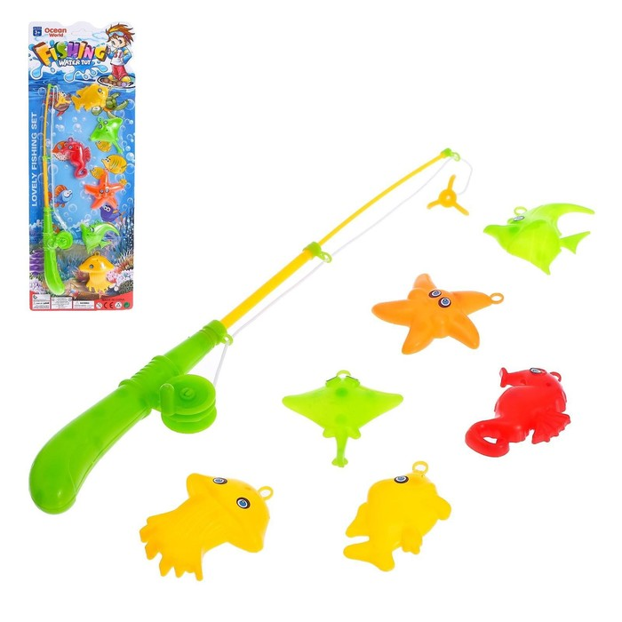 Рыбалка «Ловись рыбка»: удочка, 6 рыбок МИКС