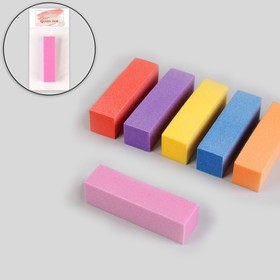 Баф наждачный для ногтей, четырёхсторонний, 9 × 2 × 2 см, цвет МИКС