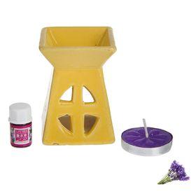 Набор 3 в 1 (свеча, аромалампа, аромамасло 'Лаванда') Ош