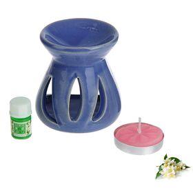 Набор 3 в 1 (свеча, аромалампа, аромамасло 'Жасмин') Ош