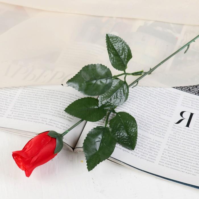 Цветы искусственные роза простая 55 см 21672
