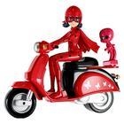 Кукла «Леди Баг» на скутере