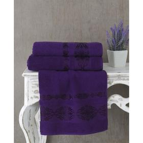 Полотенце Rebeka, размер 50 × 90 см, цвет фиолетовый