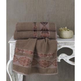 Полотенце Rebeka, размер 50 × 90 см, цвет коричневый