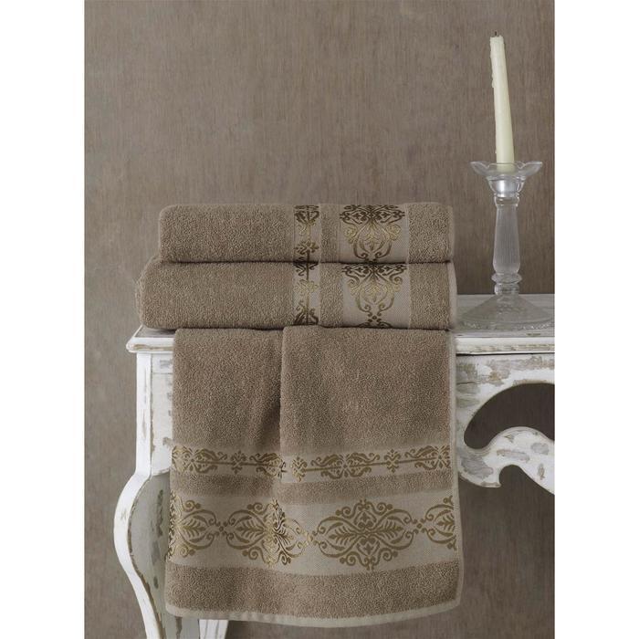 Полотенце Rebeka, размер 50 × 90 см, кофейный