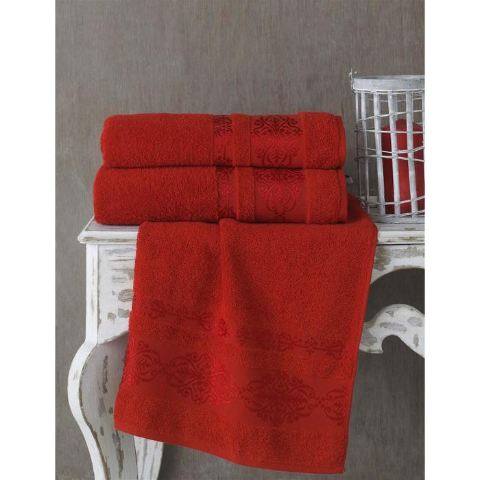 Полотенце Rebeka, размер 70 × 140 см, красный