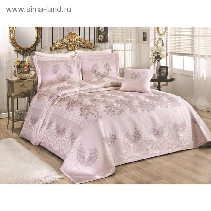 Комплект Rosses: покрывало 260 × 270 см, наволочки 50 × 70 см - 2 шт, 40 × 40 см - 1 шт, пудра